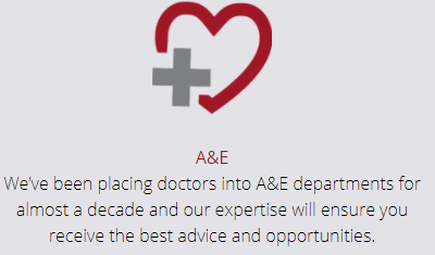 A&E - We've been placing doctors into A&E departments for almost a decade and our expertise will ensure you receive the best advice and opportunities.